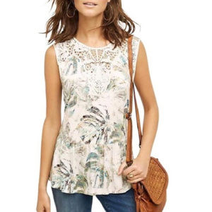 Anthropologie Meadow Rue Lia Botanical Tank Top